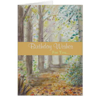 Healing Forest Birthday Greeting Card