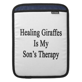 Healing Giraffes Is My Son's Therapy iPad Sleeves