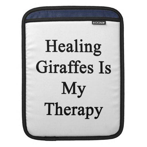 Healing Giraffes Is My Therapy iPad Sleeves