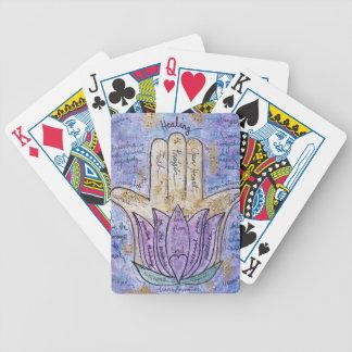 Healing Hamsa Bicycle Playing Cards