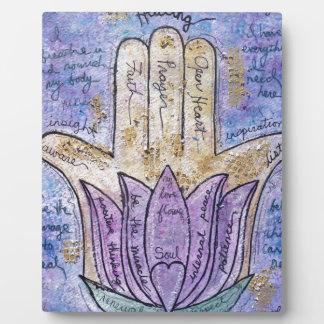 Healing Hamsa Plaque