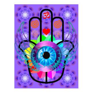 Healing Hamsa postcard