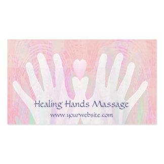 Healing Hands Light Pink Business Card Templates