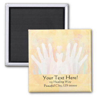 Healing Hands Light Yellow Magnet