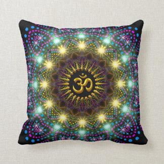 Healing Light Mandala Om Symbol Pillow