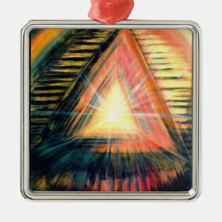 Healing Light Silver-Colored Square Decoration