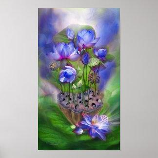 Healing Lotos - Third Eye Fine Art Poster/Print Poster