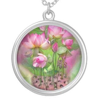 Healing Lotus Crown Chakra Wearable Art Necklace