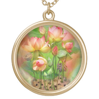 Healing Lotus Sacral Chakra Wearable Art Necklace