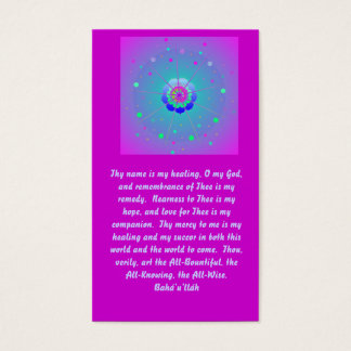 Healing Prayer Business Card