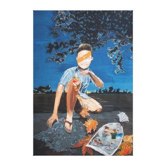 Healing record canvas prints