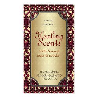 Healing Scents Batik Arabesque Business Cards
