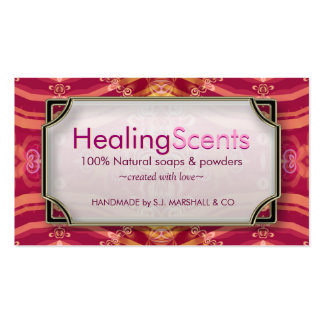 Healing Scents Tropical Pink Batik Business Cards
