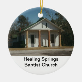 Healing Springs Baptist Church Round Ceramic Decoration