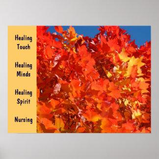 Healing Touch Healing Minds Healing Spirit Nursing Poster