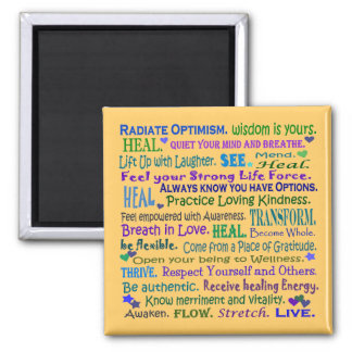 healing words collage magnets