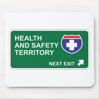 Health and Safety Next Exit Mouse Pads