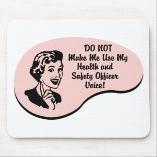 Health and Safety Officer Voice Mouse Pad