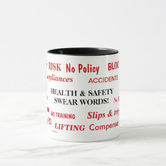 Health and Safety Swear Words Annoyingly Funny Mug