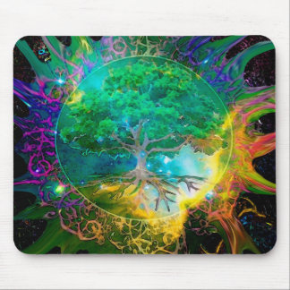 Health and Vitality Tree of Life Mouse Pad