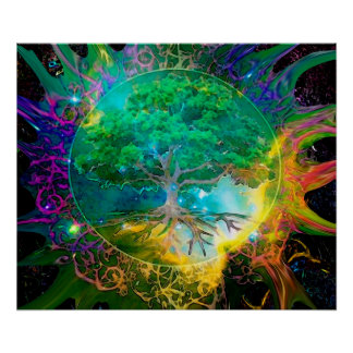 Health and Vitality Tree of Life Poster