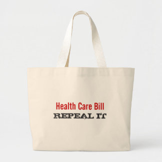 Health Care Bill  - REPEAL IT Canvas Bags
