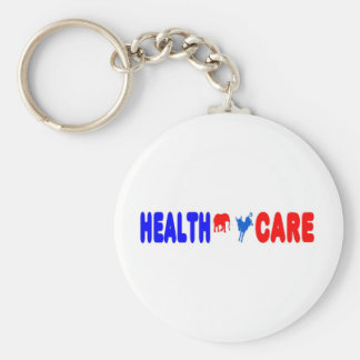 Health Care Basic Round Button Key Ring