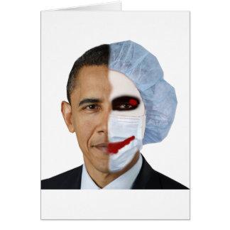 health care obama joker greeting cards