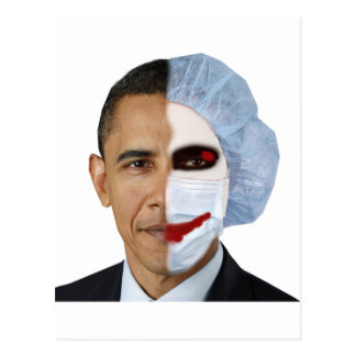 health care obama joker post card