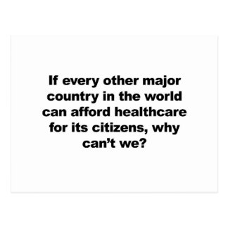 Health care, why can't we? postcard
