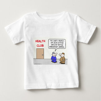 health club eating breakfast cereal baby T-Shirt