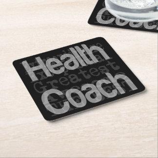 Health Coach Extraordinaire Square Paper Coaster