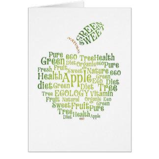 Health Green Eco Friendly Greeting Card