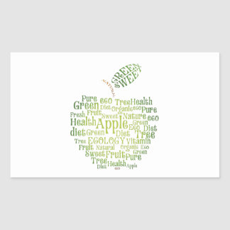 Health Green Eco Friendly Rectangle Sticker