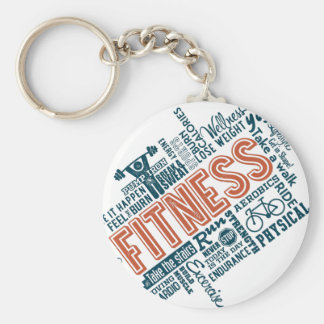 Health, Gym & Fitness gear and apparel Basic Round Button Key Ring