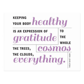 Health is Gratitude Postcard