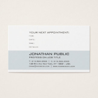 Health Medical Doctor Dentist Appointment Reminder Business Card