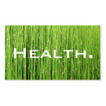 Health Professional Business Card-Natural Green Pack Of Standard Business Cards