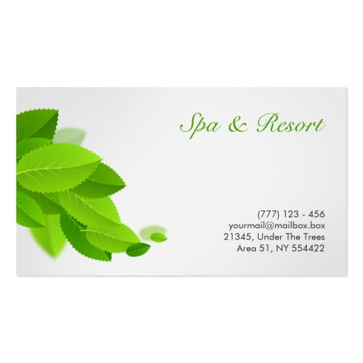 health, spa and beauty business card