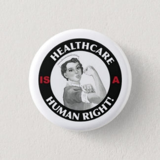 Healthcare is a human right button