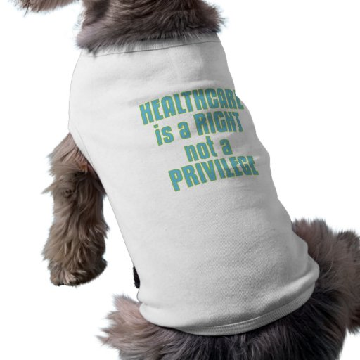 Healthcare is a Right not a Privilege Pet Tee Shirt