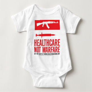 Healthcare NOT Warfare Baby Bodysuit