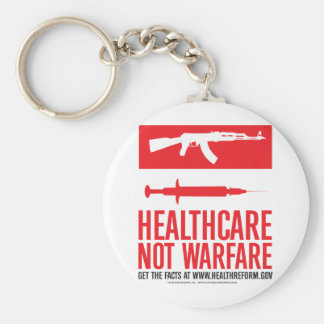 Healthcare NOT Warfare Basic Round Button Key Ring