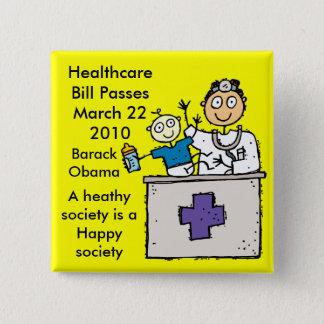 HEALTHCARE PASSES 15 CM SQUARE BADGE