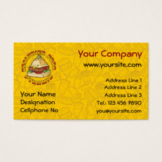 Healthier Food Pyramid Business Card