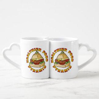 Healthier Food Pyramid Coffee Mug Set