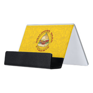 Healthier Food Pyramid Desk Business Card Holder