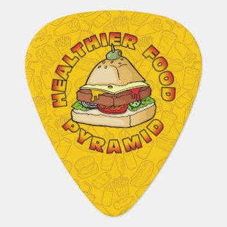 Healthier Food Pyramid Guitar Pick