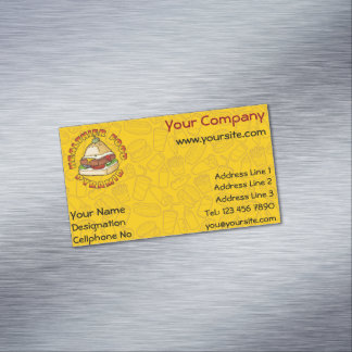 Healthier Food Pyramid Magnetic Business Cards
