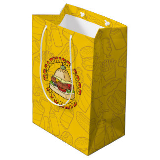 Healthier Food Pyramid Medium Gift Bag